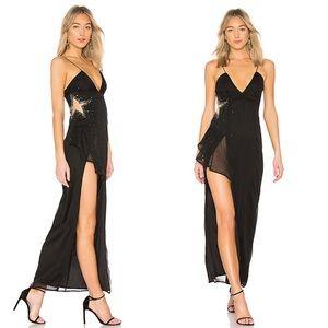 NEW Lovers Friends Estrella Star Beaded Maxi Dress